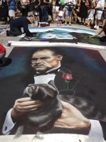 The Godfather Street Painting by Kaizer617