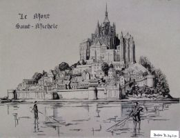 Mont Saint-Michel by Extry
