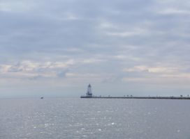 Ludington Pier and Lighthouse by moldypotatoes
