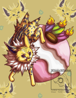 [Fanart] Jolteon Puff by WhiskyWhisker