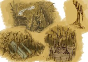 Cave Sketches by TheAngelOfLucifer