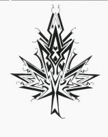 Maple leaf design tribal style by Nox-Dracoria