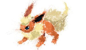 Paint Drip Flareon by ImpersonatingPanda