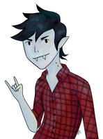 Marshall Lee by MermaidInBlueJeans