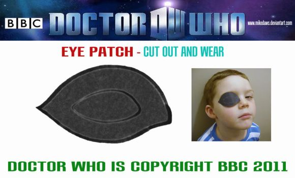 Doctor Who - Eye Patch by mikedaws