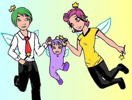 fairy family - colored by vix-cnf