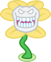 Happy Flowey by Dalekolt