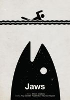 'Jaws' pictogram movie poster by viktorhertz