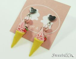 Mini Ice-Cream Pearl Earrings by SweetandCo