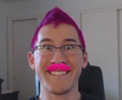 Markiplier WarfStashe Pink Hair Don't Care by Varietyoflife