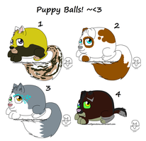 Puppy Balls- Set 01 by MWGadopts