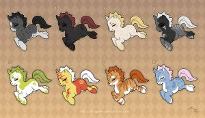 [Closed] Adoptables: Unicorn Ponies 2 by MySweetQueen