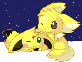 Parupi and Sparksvee by pichu90
