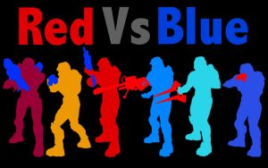 Red vs Blue Gang by DanTherrien101