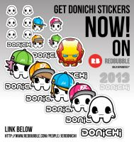 DONICHI STICKERS by jerdonichi