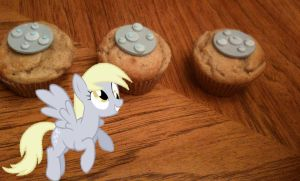 Derpy Hooves Banana 'Derp' Muffins by LadyGryffindor