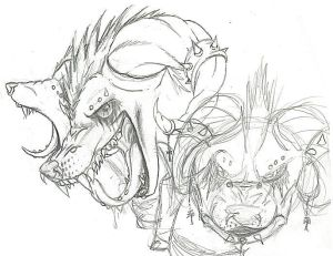 Female Cerberus Sketch - WIP