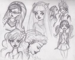 Monster High sketch dump 1 by sunnydunes