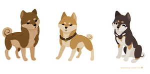 Team free shibas by FourDirtyPaws