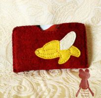 Custom Banana Card Holder by quirkandbramble