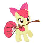 Apple Bloom with a Broom by Maishida