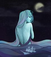 Goddess of the sea by camelliabei