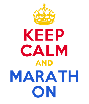 KEEP CALM and MARATHON by Scrabblicious
