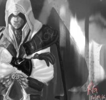 Ezio : Portrait of the hidden by Akuya-Kyuubi