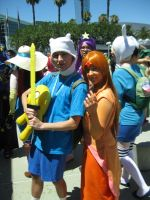Finn and Flame Princess by sennalover294