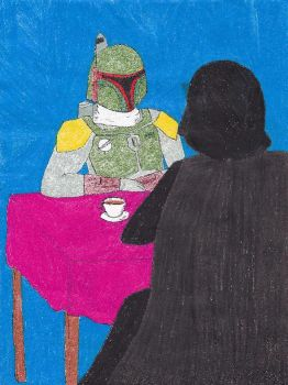 Boba and Vader Tea Time by caspisan