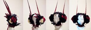 Queen of hearts headress by AxKato