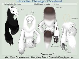 Skull Creature Hoodie by A-R-T-3-M-I-S