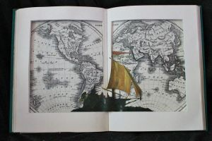 Simple Around the World in 80 Days Book Sculpture by wetcanvas