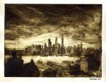 Noir City (etching) by KayIglerART