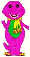 Barney In His Winter Clothes by BestBarneyFan