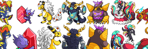 Tandor Mega Evolutions by Involuntary-Twitch