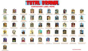 My Total Drama Contestant Lable Meme by HunterxColleen