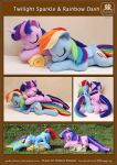 Sleeping Twilight Sparkle and Rainbow Dash by Ryoko-demon