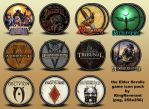 The Elder Scrolls series icons by KingReverant