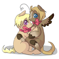 Little Al and Matt / American Brothers colts by Ask-Pony-GerIta