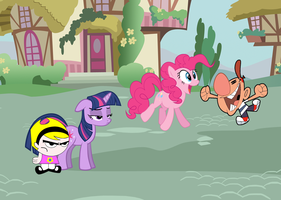 Billy, Mandy, Twilight y Pinkie by AndresToons