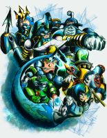 MegaMan: League of the Deep-sea Matelots by Mariolord07