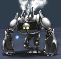 WoD Artworks: Iron Golem by OptionBB