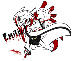 Emilie The Hedgehog Blood. by vane1235