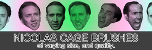 Nicolas Cage Brushes for Photoshop by Newhelper