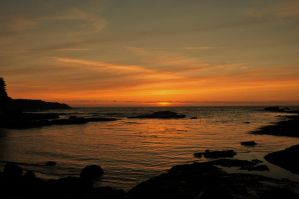 Sunset at Boiler Bay II by m-faccone