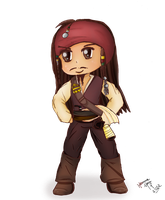 Chibi Capitain Jack Sparrow by hannamaia