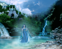 Lady of the Lake by lilok-lilok
