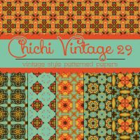 Free Chichi Vintage 29 Patterned Papers by TeacherYanie