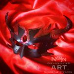 DEMON - One of a kind Handmade Leather Mask by nondecaf